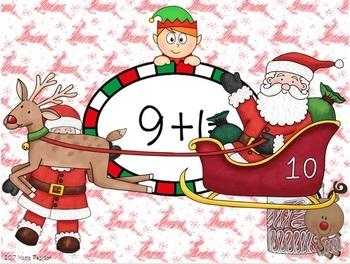 Write the Equation Task Cards with Christmas Theme