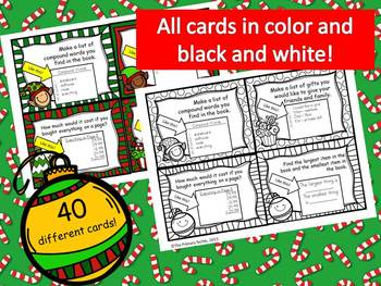 Christmas Task Cards for Holiday Wish Books