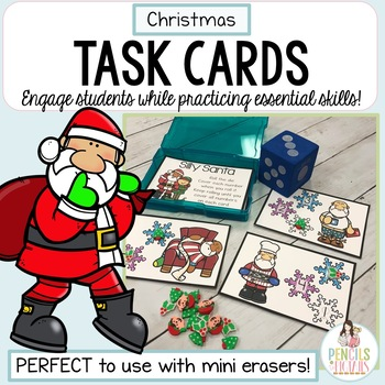 Christmas Task Cards for Mini Erasers