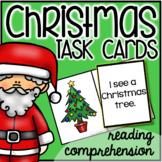 Christmas Task Cards : reading comprehension (pre-primer)