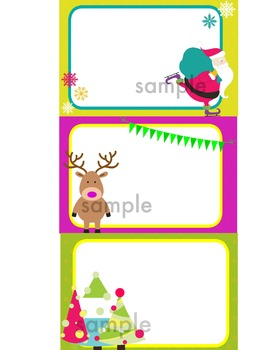 Christmas Task cards or Notecards