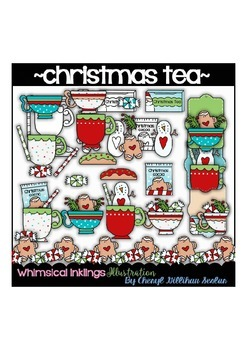 Christmas Tea Clipart Collection