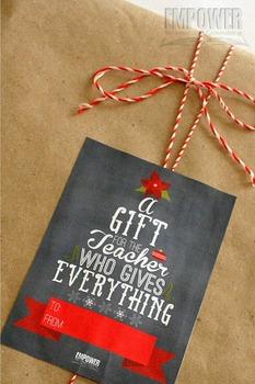 Christmas Teacher Appreciation 1st Grade Literacy Gift Pack