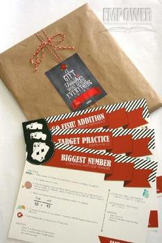 Christmas Teacher Appreciation 4th Grade Math Gift Pack