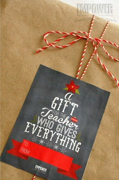 Christmas Teacher Appreciation 6th Grade Literacy Gift Pack