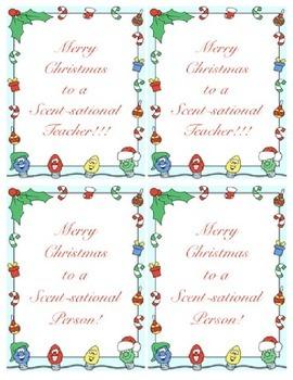 Christmas Teacher Gift Tags