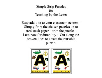 Christmas ~ Teaching by the Letter Holiday Strip Number Puzzles