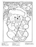 Christmas Teddy Bear Dynamics review coloring sheet