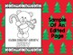 Christmas Teddy Bears Coloring Pages (Editable) - The Crayon Crowd