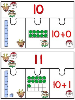 Christmas Teen Number Activities