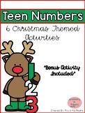 Christmas Teen Number Activities