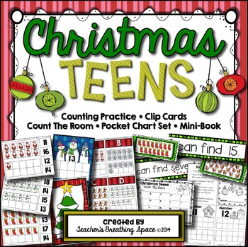 Christmas Teens --- Christmas Teen Number Math Center Games --- Numbers 11-20