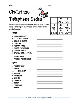 Christmas Brain Teasers With Answers.Christmas Telephone Codes Brainteasers