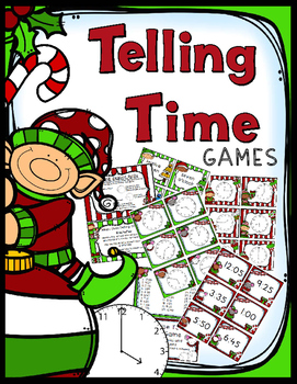 Christmas Telling Time - 2 Games