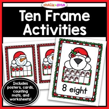 Christmas Ten Frame Activities (1-10)