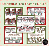 Christmas Ten Frame Bundle / Christmas Clipart Bundle / Co