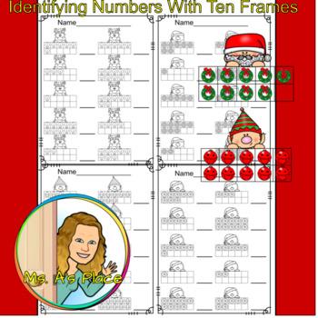 Christmas Ten Frame Bundle/Number Recognition