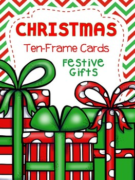 Christmas Ten Frame Cards: Festive Gifts