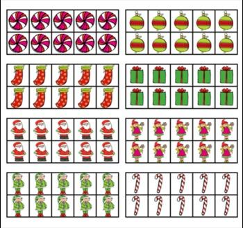 Christmas Ten Frame Clip Art ***COMBO*** - Common Core Math Commercial OK
