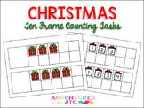 Christmas Ten Frame Counting Tasks