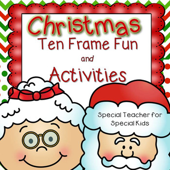Christmas Ten Frame Fun Activities and Printables {Aligned with Common Core}