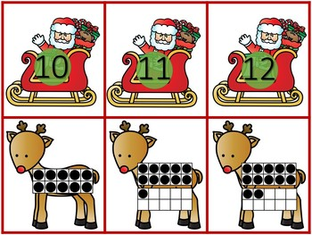 Christmas Ten Frame Match