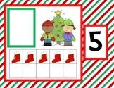 Christmas Ten Frame Match for Math Centers