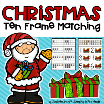 Christmas Ten Frame Matching