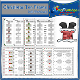 Christmas Ten Frame Math Worksheets