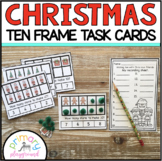 Christmas Ten Frame Task Cards Making Ten with Christmas Friends