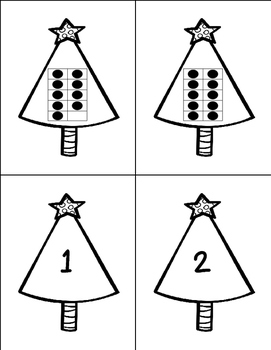 Christmas Ten Frame and Counting Activities