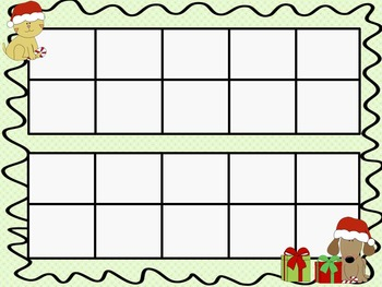 Christmas Ten Frames - 10 QUICK Prep Pages!
