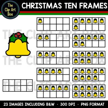 Christmas Ten Frames (Bell) - Clip Art