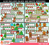 Christmas Ten Frames Clip Art Bundle