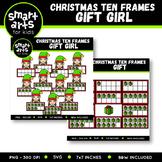 Christmas Ten Frames Clipart