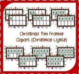 Christmas Ten Frames Clipart / Christmas Lights Ten Frames