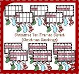 Christmas Ten Frames Clipart / Christmas Stocking Ten Fram