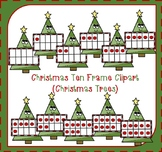 Christmas Ten Frames Clipart / Christmas Counting {FREEBIE}