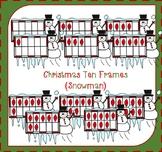 Christmas Ten Frames Clipart / Snowman Clipart / Counting Clipart