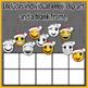 Christmas Ten Frames Emoji Clip Art