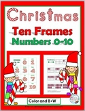 Christmas Ten Frame Number Cards 0-10 - Christmas Math