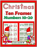 Christmas Ten Frame Number Cards - Numbers 11-20 - Christmas Math