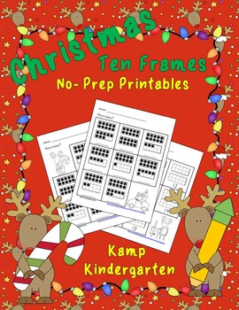 Christmas Ten Frames No Prep Printables (Quantities of 11 to 20)