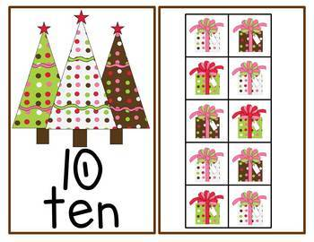 Christmas Ten Frames Unit (Gingerbread, Santa & Reindeer, Trees & Presents)