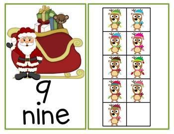 Christmas Math Ten Frames Unit