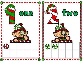Christmas Ten and Twenty Frame Math Center