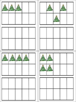 Christmas Tens Frames Matching 1-20