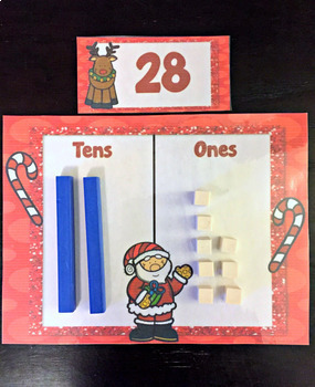 Christmas Math Activity Place Value Center