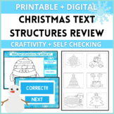 Christmas Text Structures Review Craftivity!