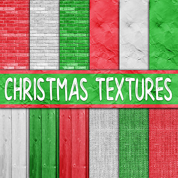 Christmas Textures Digital Paper Pack - 12 Papers - 12x12in
